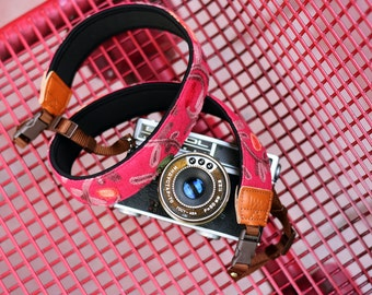 Carmine Plant Camera Strap suits for DSLR / SLR with Quick Release Buckles