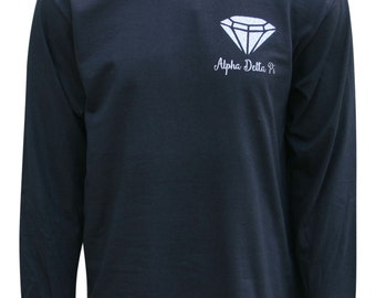 Alpha Delta Pi Diamonds are Forever Long Sleeve T-shirt