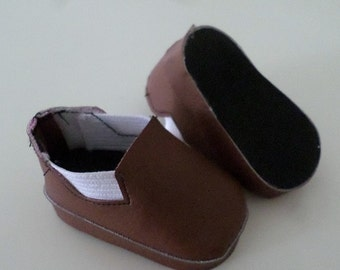 brown slip on ankle boots for 18 inch dolls