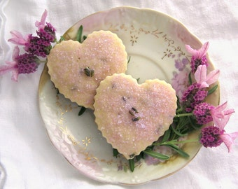 Box of Hearts 2 Dozen Shortbread Cookie Sampler - You Choose Flavors - Valentine's Day Gift