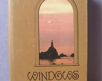 Vintage Windows Poetry book by Martha Oliver Williams, 1976, Nature Photographs, Life, love, friendship, Valentine's day gift for wife