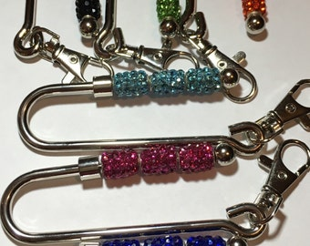 Handmade key finder key chain key ring for purse handbag purse key finder, bling key ring, pink key finder