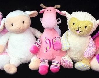Personalized Cubbie Pink Giraffe Monogrammed Stuffed Animal