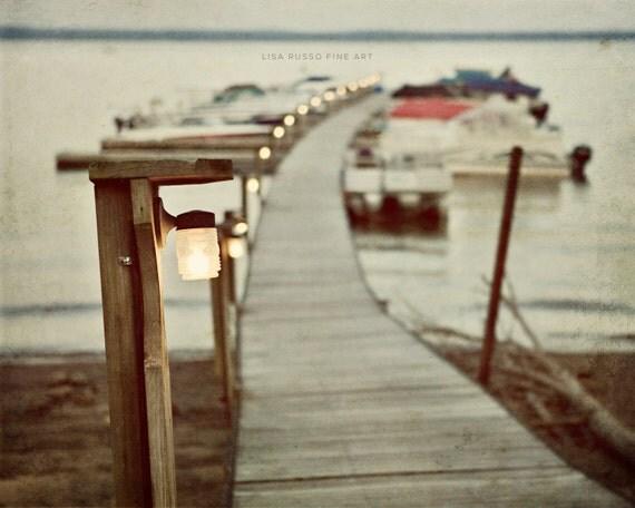 Sacandaga Lake Print or Canvas Art, Nautical Decor, Adirondack Art, Lake Landscape, Rustic Home Decor, Camp Decor, Boat Decor, Boathouse.