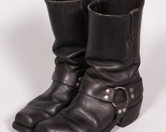 Men's Black MOTORCYCLE Boot Size 8 D