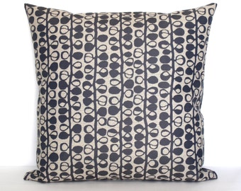 Blue Grey Pillow Cover Modern Botanical Upholstery Fabric Decorative Pillow Cushion Cover 20x20 18x18 16x16