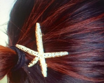 Gold Starfish hair clip wedding hair clips starfish women's hair accessory beach bride sea life updo hairstyle starfish clips/pins