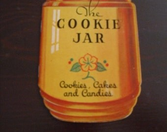 Vintage Cook Book Dixie Crystal Sugar Cookie Jar Paper Ephemera