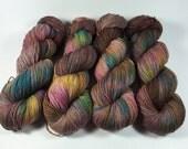 Simple Sock, Hand Dyed Yarn, Superwash Merino, Nylon, Sock Yarn, Fingering Yarn, variegated yarn, Wine Barrel