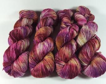 Merino Tweed Sock, hand dyed yarn, Superwash merino, color, Swanky Picnic, 100 grams, tweed yarn, multicolored yarn, sock yarn, variegated