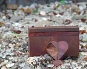 Set Unique Gift Walnut Burl Gift Box With Twisting Heart