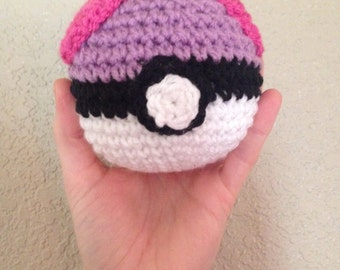 Crocheted Master Pokeball / Made to Order