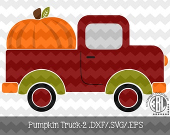 Pumpkin Truck-2 INSTANT DOWNLOAD dxf/svg/eps for use with programs such as SilhouetteStudio and Cricut Design Space