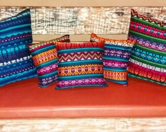 Decorative Pillows Handmade with fabric from Guatemala-Large