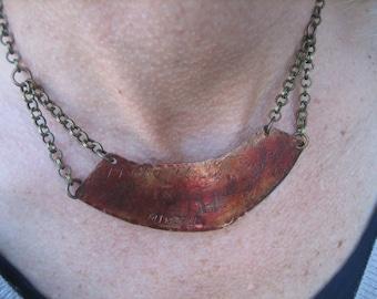 MINDFULNESS NECKLACE bib necklace choker handmade patina
