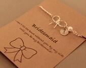 Tie the Knot Bracelet: Silver Tone Tie The Knot Bracelet, Bridesmaid Gift, Bridesmaid Jewelry, Wedding, Best Friend, Maid of Honour
