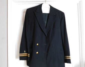Original WW2 Era US Navy Medical Doctor ? Lieutenant Officer Dress Uniform Coat