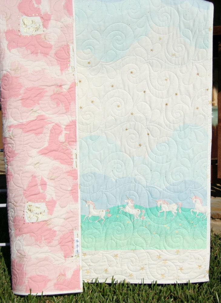 Quilt Kit Wholecloth Cheater Panel With Stripe Blanket