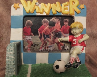 Russ Berrie Dream Team Kids Soccer Player Picture Frame MIB