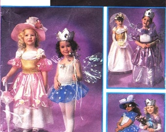 Simplicity 8769 Girls sweet Costumes: Princess, Party, Bride, Queen,   6 Styles Szs 3 To 8 Pattern