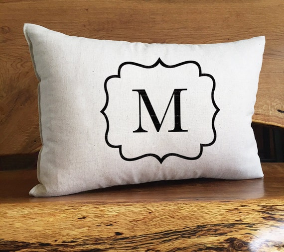Personalized Monogrammed Home Decor Pillow Personalized With