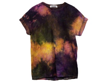 Purple Tie Dye T-Shirt <UNISEX SIZE> Funky Psychedelic T-shirt, Funky Gift for Husband, Cool gift for Tie Dye Fan, How to tie dye a T-shirt