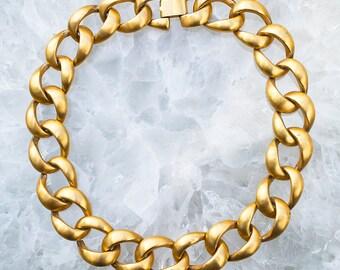 Large Chain Link VINTAGE Avant Garde NECKLACE