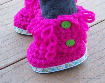 Crocheted Loopy Boots for American Girl 18 inch My Twinn and other 18 inch dolls