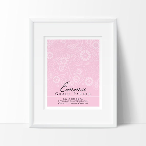 Baby girl nursery decor personalized baby gift personalized like this item negle Images