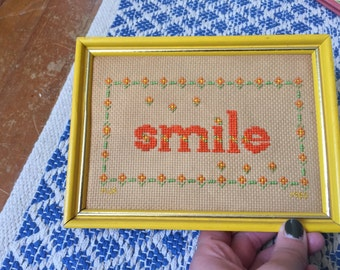 Make me an Offer! Smile Cross Stitch