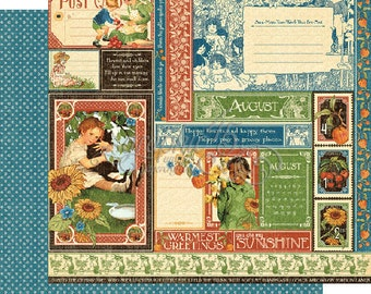 """Graphic 45's """"Children's Hour"""" Both August 12x12 Pages  ** See Discounted Shipping Note**"""