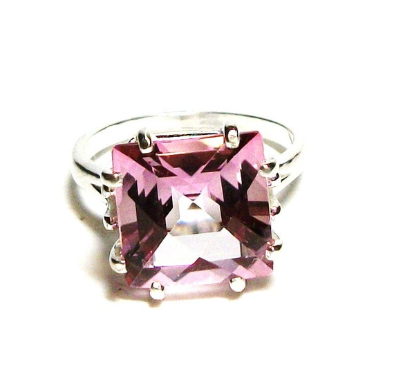 topaz pink topaz ring princess cut topaz by michaelangelas