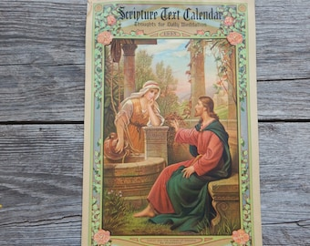 Scripture Text Calendar 1935 by Messenger Corporation Auburn Indiana