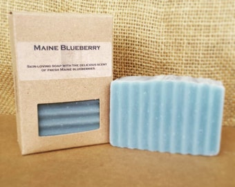 MAINE BLUEBERRY- handmade soap with the sweet fragrance of fresh picked Maine blueberries