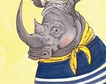 Sailor Rhino Print, 8 x 10