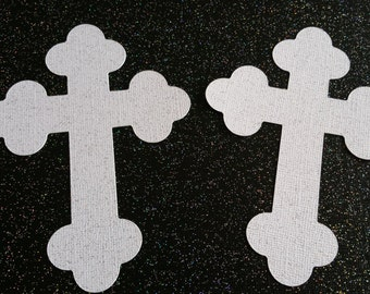 Cross Die Cuts // Large // Party Decorations // Cake or Cupcake Toppers // Centerpieces // Baptism // Christening // 5 inches
