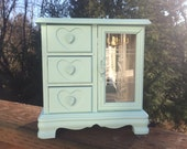 Mint Green Upcycled Vintage Jewelry Box