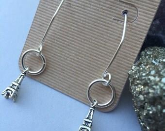 Tiny Eiffel Tower Earrings