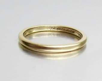 RARE (1876) Antique Victorian TIFFANY and Co Wedding Band 18K