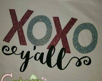 XOXO yall glitter shirt