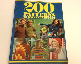 200 Patterns to Knit and Crochet  A Golden Hands Pattern Book Hardcover