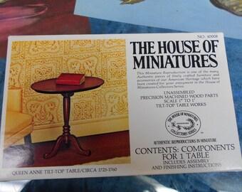 Doll House Table Kit Queen Anne Tilt Top Table