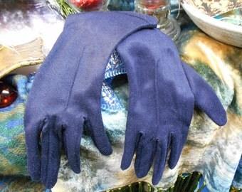 Blue Vintage Gloves