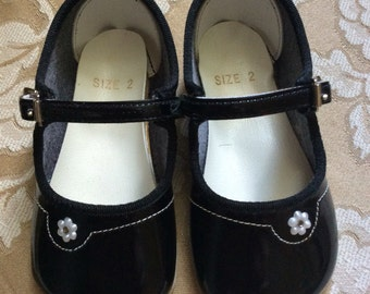 Vintage Black Baby Girl Shoes