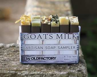 Artisan Raw Goats Milk Soap Sampler made with Texas Inspired Essential Oils