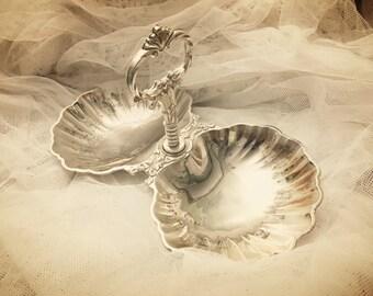 Silver Clam Dish, Silver Clam, Beach Decor, Nautical Decor