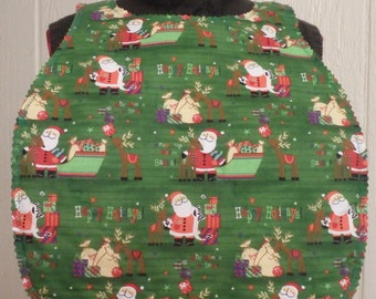 Holiday Adult Bib, Christmas Bib, Special Needs Bib, Clothing Protector, Gifts for Seniors, Gifts for Grandparents - Choose Size & Fabric