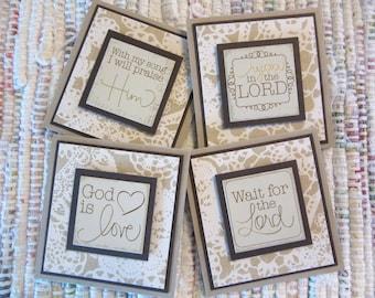 Inspirational Mini Cards  Set of 4
