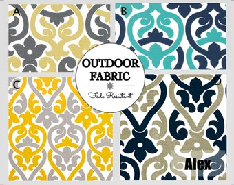 OUTDOOR Cushions- Swing Cushions- Outdoor Pillows- Outdoor Fabric- Box Cushions- Deck Cushions- Patio Cushions- Chair Cushions- ALEX