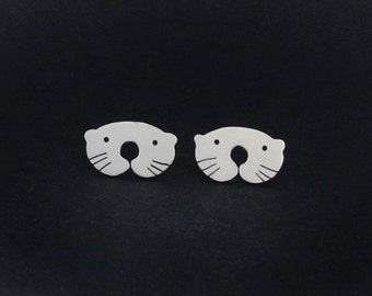 Otter Earrings - Cute Animal Earrings - Otter Jewelry - Cute Stud Earrings - Animal Gifts for Teen Girls